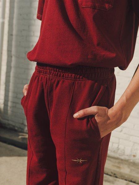 PHIPPS Garment Dye Organic Cotton Classic Logo Sweatpants - Crimson