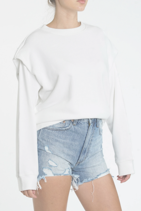Pistola Lenora Flange Sweatshirt - Le Blanc
