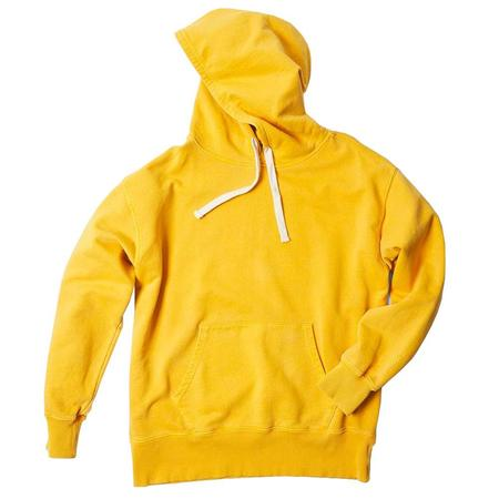 Nigel Cabourn Pigment Dye Jersey Embroidered Arrow Hoodie