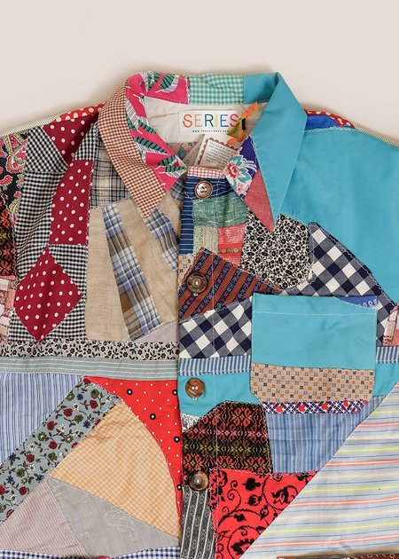 The Series Morning Walk Quilted Chore Shirt - Multi