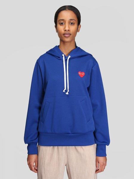 UNISEX Comme des Garçons Play Hooded Sweatshirt - NAVY