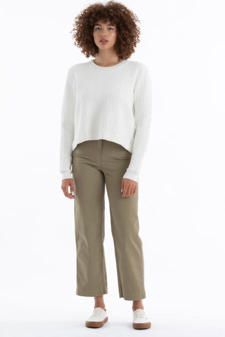Ali Golden Quilted Sweatshirt - Bone