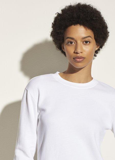 Vince Essential Shrunken Pullover - Optic White