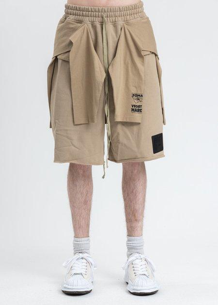 Komakino Stabil Reversible Short - Beige