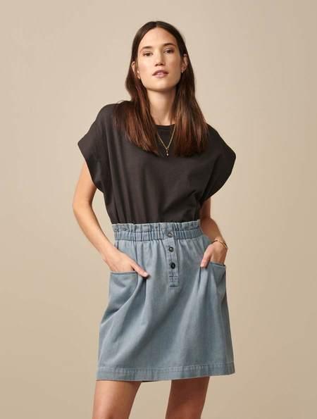 Bellerose Avery Chambray Skirt - blue