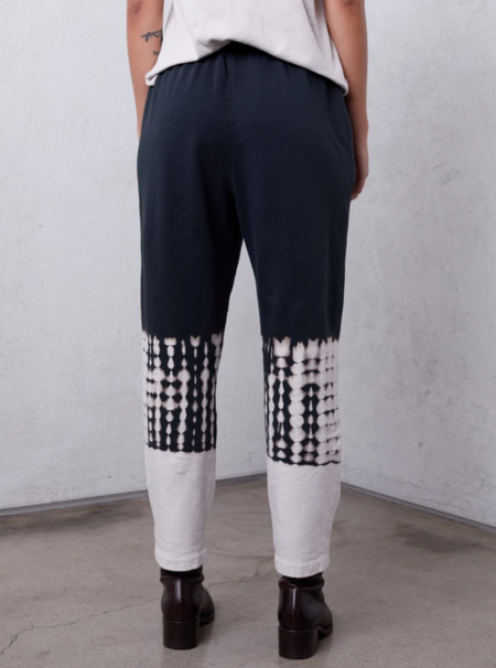 Raquel Allegra Hilma Cotton Medley Pant - White/Black
