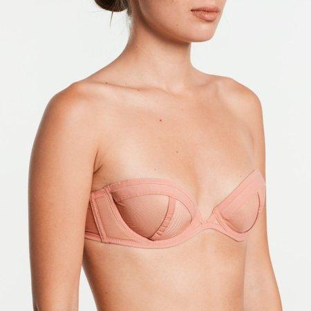 Yasmine Eslami Serena Bandeau Bra with Removable Straps - Strawberry