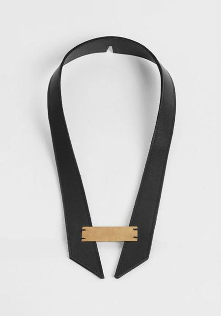 Maison Dressage Leather Trapezist Swing Choker - Black