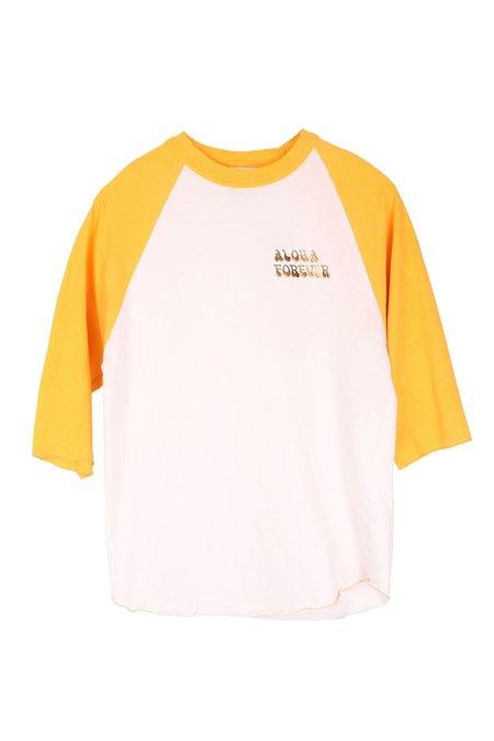 AqC Baseball Tee - Yellow Aloha Forever
