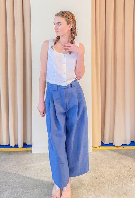 Rachel Comey Cropped Divide Pant - Blue
