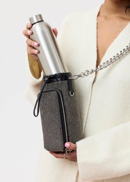 KARA Mesh Water Bottle Bag - Hematite Crystal