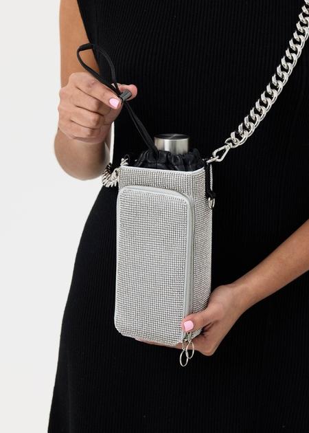 KARA Mesh Water Bottle Bag - White Crystal
