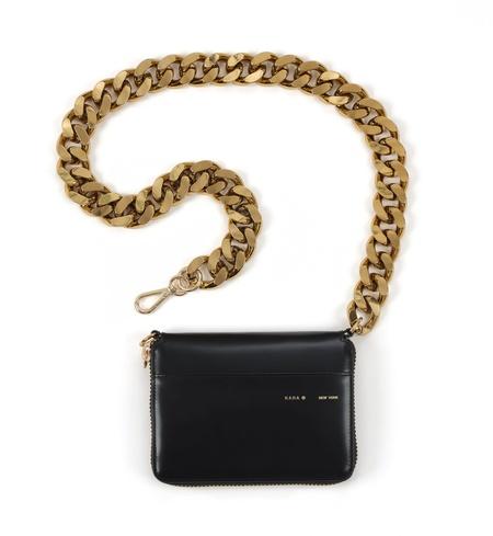 KARA Large Bike Wallet - Black/Gold