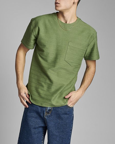 Anerkjendt Camiseta Akkikki Struc Stripe - Vineyard Green