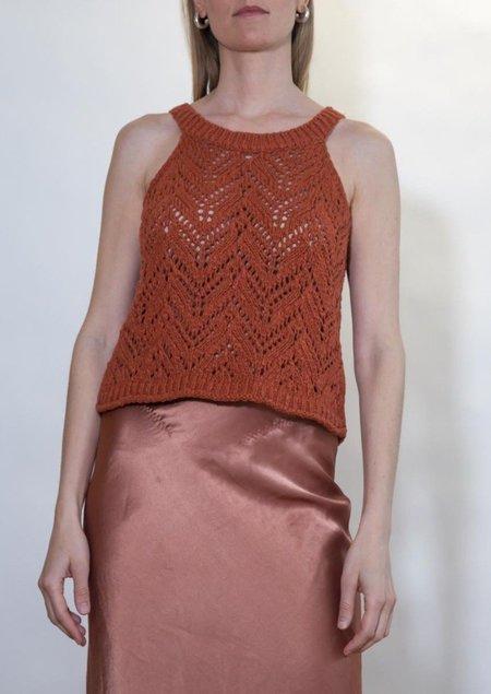 Missing you already Halter Crochet Top - Orange
