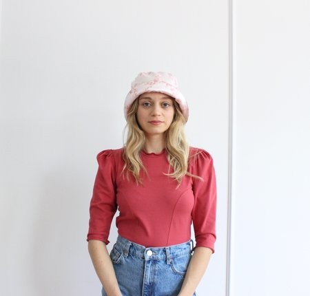 Rightful Owner Kimberly Satin Hat - Pink