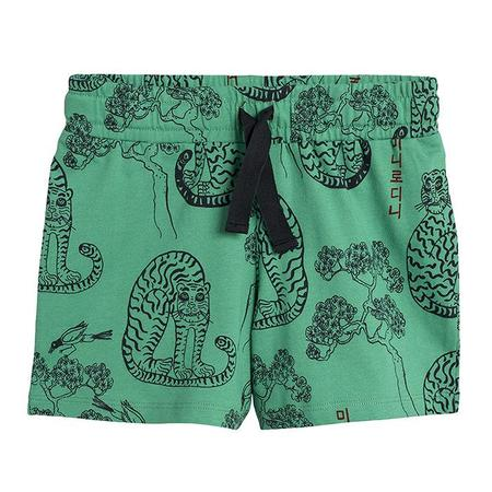 kids Mini Rodini Baby And Child All Over Tiger Print Shorts - green