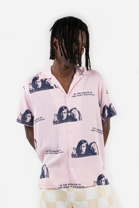 Reception Clothing in the Realm SS Bowling Shirt - Rayon Pink