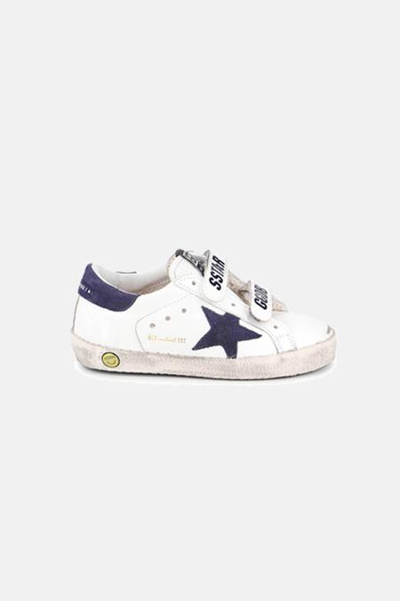 Kids Golden Goose Old School Shoes - White/Blue