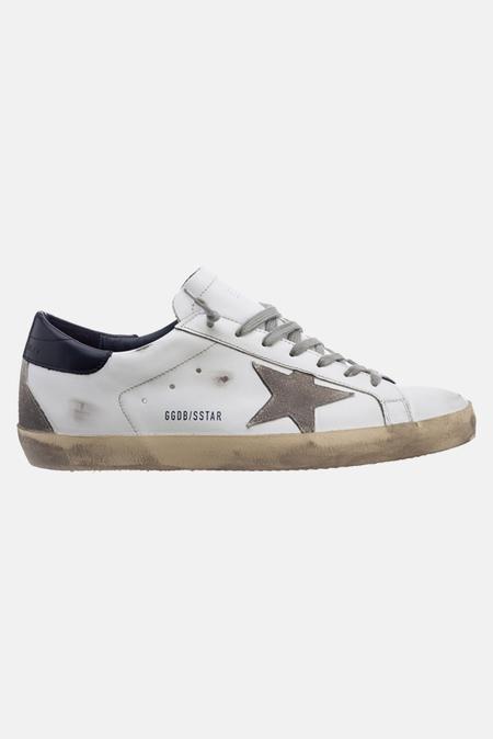 Golden Goose Superstar Shoes - White/Blue