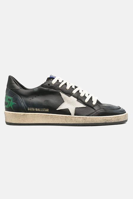 Golden Goose Ball Star Shoes - Black Leather/Ice Suede Star