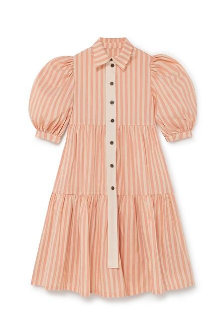 kids LITTLE CREATIVE FACTORY CARROUSEL DRESS - ORANGE STRIPE