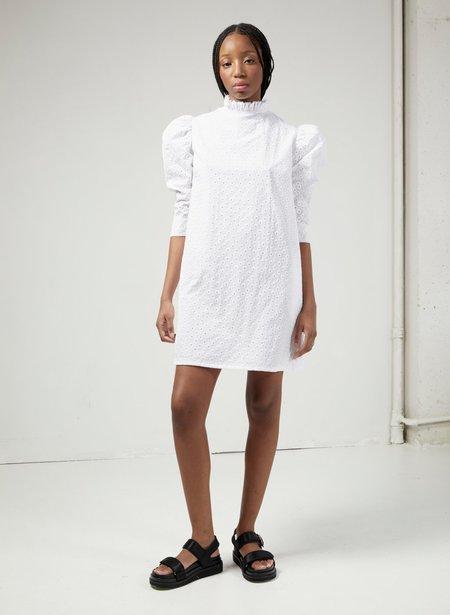 Eliza Faulkner Eyelet Cotton Luella Dress - White