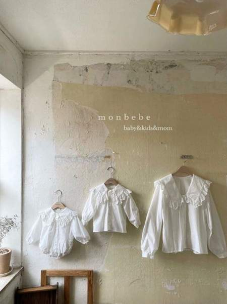 Kids Monbebe Romantic Blouse - Ivory