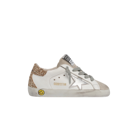 kids Golden Goose Super-Star Leather Upper laminated Star Glitter Heel and Spur GYF00102.F000980.10479 sneakers - white/ice grey