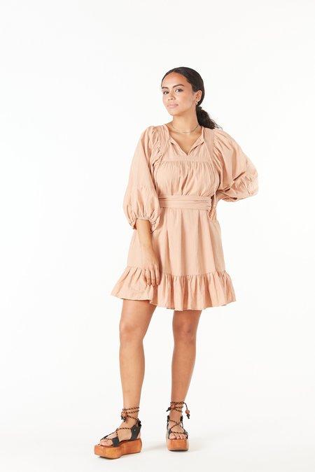 Cleobella Magdalena Mini Dress - TAN