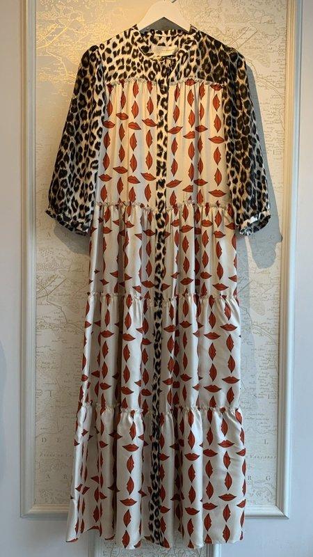 La Prestic Ouiston Flore Kiss Print Maxi Dress - Multi