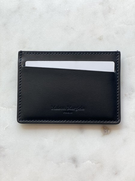 Maison Margiela Wrinkled Leather Cardholder - Black