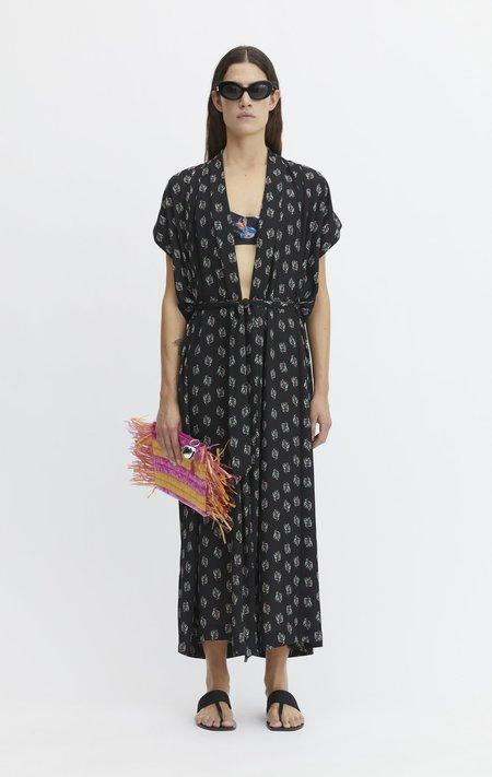 Rodebjer Olympia Fluid Caftan Dress - Black