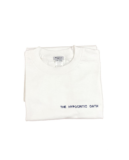 House of 950 embroidery THE HYPOCRITIC OATH tee shirt