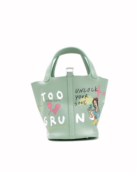 Guernika Paint Cube Snow White and Little Mermaid Bag - green