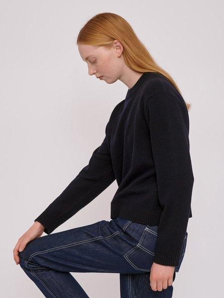 Organic Basics Recycled Wool Boxy Knit - Navy