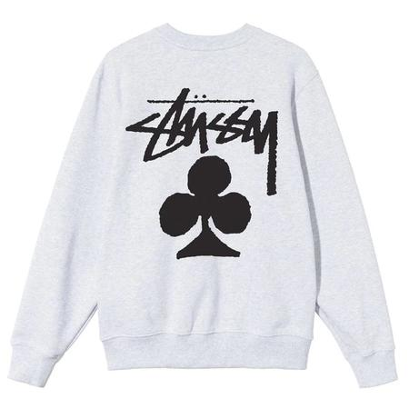 Stussy Club Crew sweater - Ash Heather