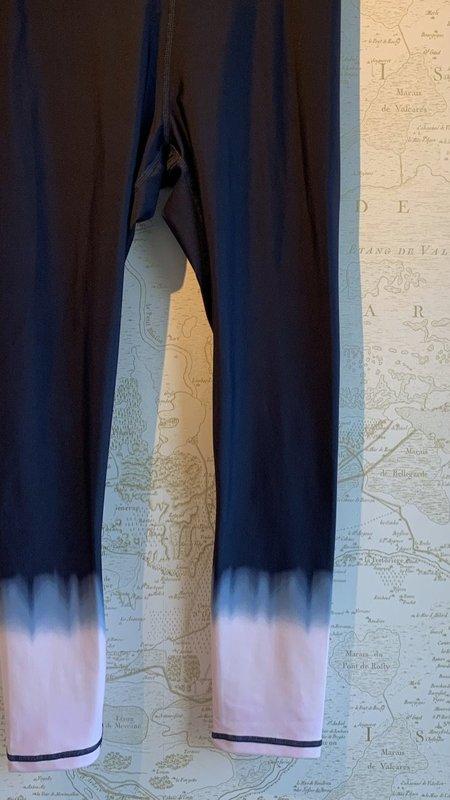The Upside Seawater Deep Dye Midi Pant - navy/pink tie/dye