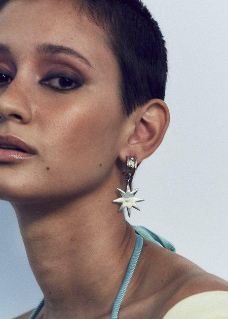 Mondo Mondo Big Star Earrings - Brass