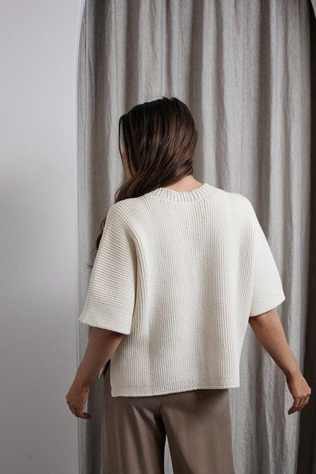 Lauren Manoogian Interlock Wide Pullover - Raw White
