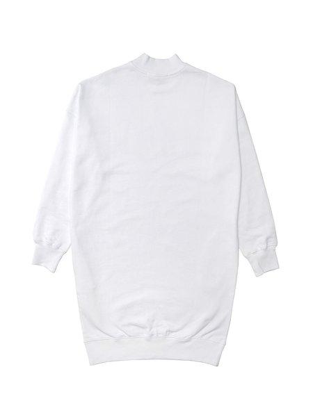 MSGM ABITO DRESS - OPTICAL WHITE