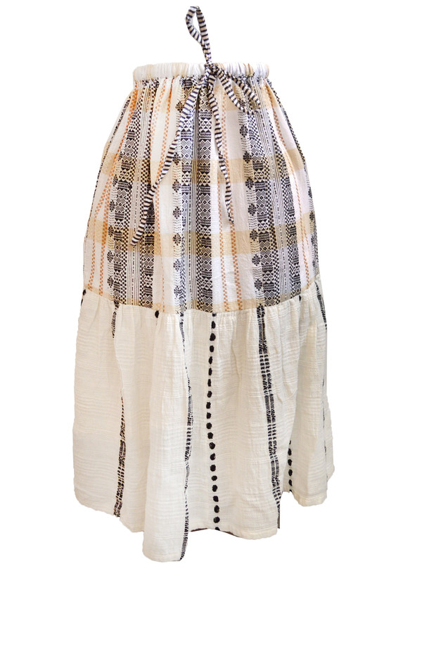 Ace & Jig Voyage Tiered Skirt in Market Print