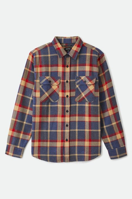 Brixton Bowery Flannel top - Blue/Red