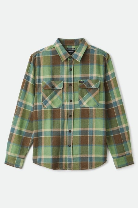 Brixton Bowery Flannel top - Toffee