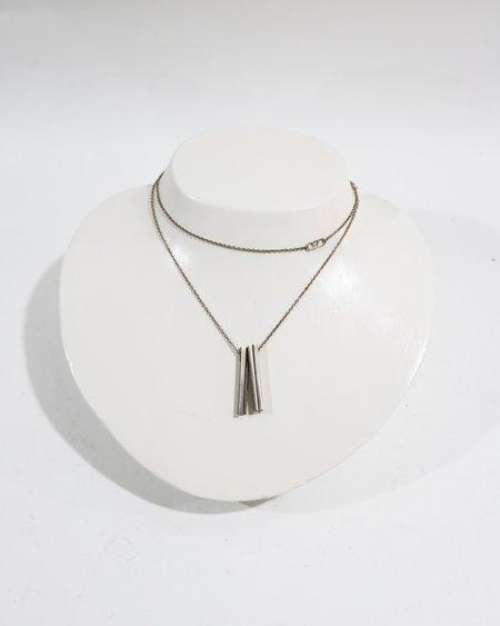 [Pre-loved] Beth Macri Hidden Message Pendant Necklace - Silver