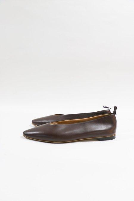 [Pre-loved] Bottega Veneta Leather Slip-On Flats
