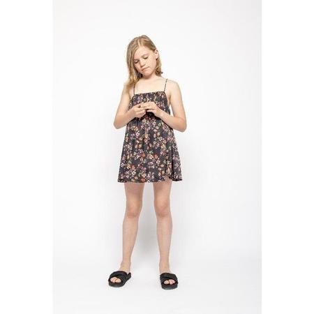 kids christina rohde sleeveless dress - black floral