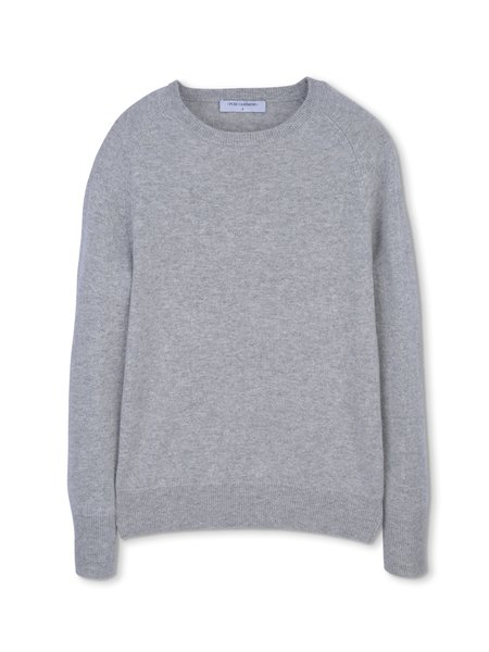 PURECASHMERE NYC Classic Crew Neck Sweater - Light Grey