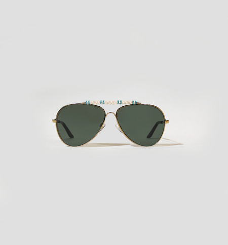 Michael Nelson Exclusive Sunglasses White/Light Blue