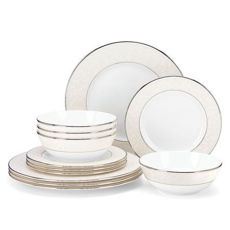 Lenox Innocence 12-Piece Dinnerware Set - Opal